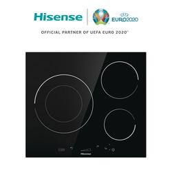 Hisense I6341C индукционная плита, керамическая плита, 7200 Вт, SliderTouch, 59,5 × 5,8 × 52 см, 3 горелки, замок безопасности