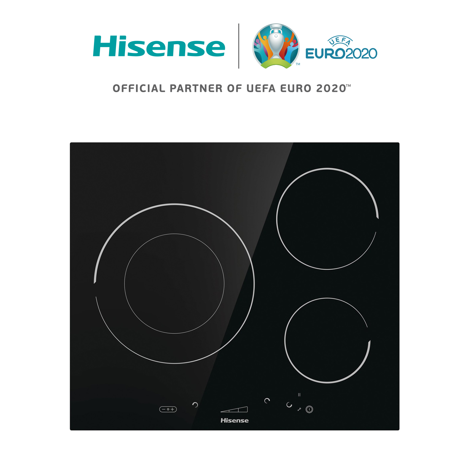 Hisense I6341C Induction Cooker, Ceramic Hob, 7200W, SliderTouch, 59,5 × 5,8 × 52 Cm, 3 Burners, Safety Lock