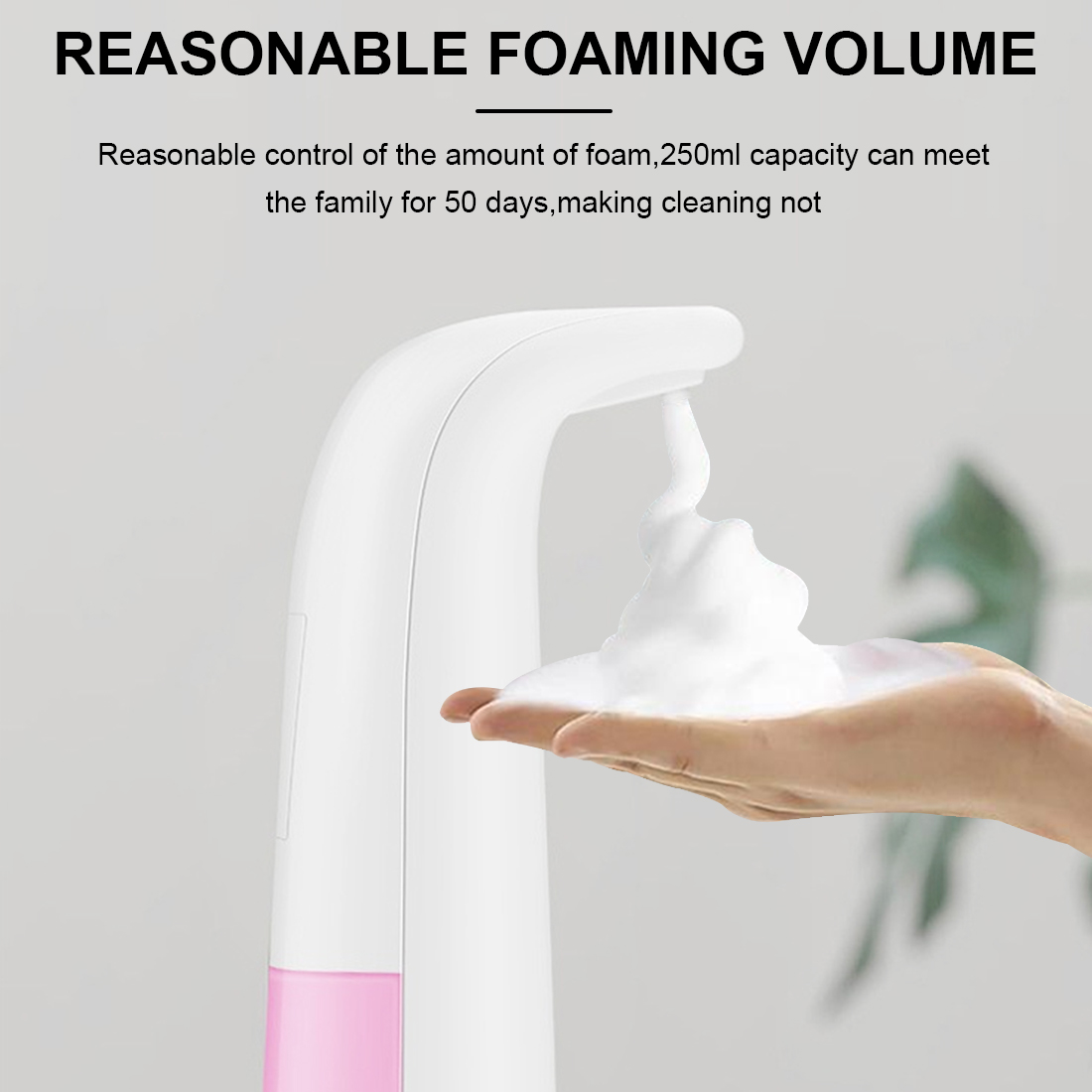 250ml Foam Liquid Dispenser Contact-free Automatic Soap Dispenser Sensor Touchless Electric Hand Washer Soap Dispenser
