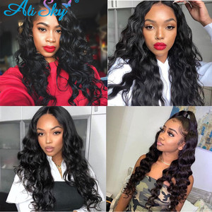 Image 2 - Ali Sky  Body Wave Bundles With Closure Brazilian Hair Bundles With Frontal Human Hair Frontal With Bundle Remy Hair Extensions