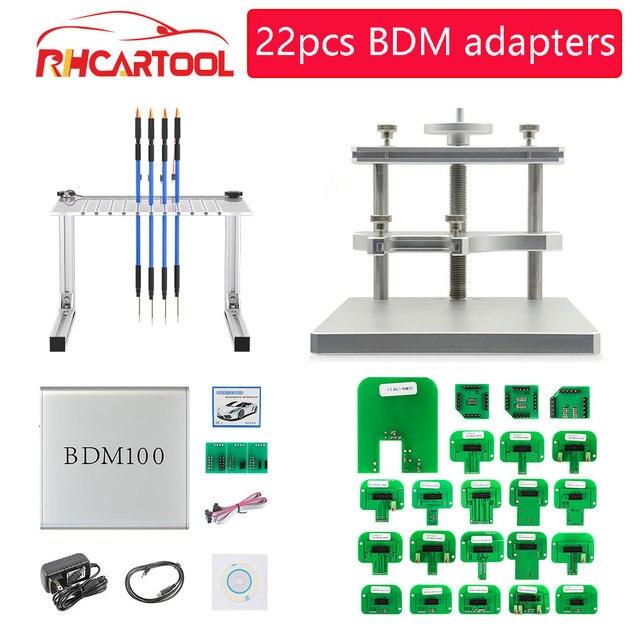 OBD2 Diagnsotic Led Bdm Kader Testen Voor BDM100 Fgtech Chip Tunning Met 22Pcs Bdm Frame Adapter Master Cmd Ecu programmering