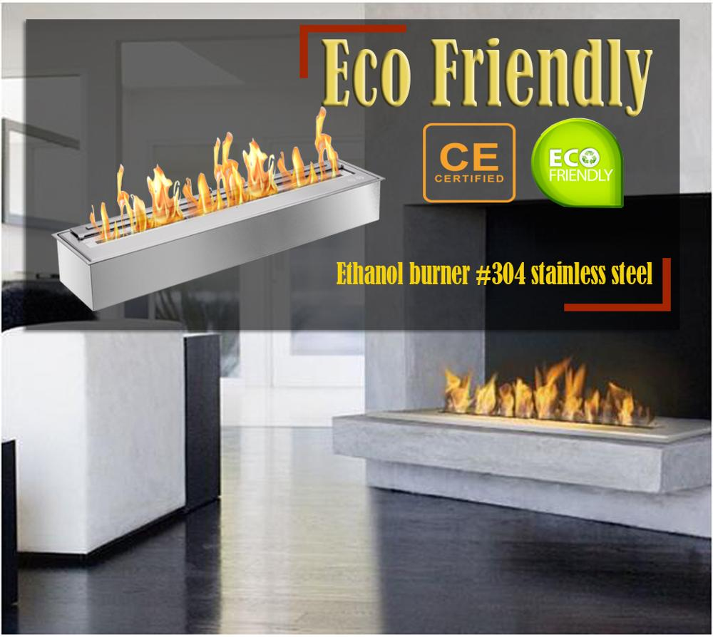 Inno Living Fire 24 Inch Chimney Fire Indoors Bioethanol Insert Fireplace