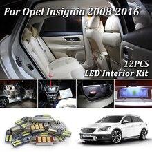 12 шт. Ошибка бесплатно для Vauxhall, Opel Insignia A Sedan универсал хэтчбек Sports G09 светодиодный светильник для интерьера комплект 2008