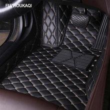 Кожаные автомобильные коврики в салон для Toyota Camry 2006-2014 2015 2016 2017 2018 Пользовательские Авто накладки на ножках не оставят автомобильный коврик...