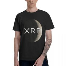 Футболка Xrp с логотипом Moon, Мужская футболка с графическим рисунком, Мужская Базовая футболка с коротким рукавом, Забавные топы