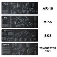 AR-10 MP5 1894 Gloc SKS Gun Cleaning Rubber Mat Non-Slip Cleaning Mat with Parts Diagram and Instructions Armorer Bench Mat