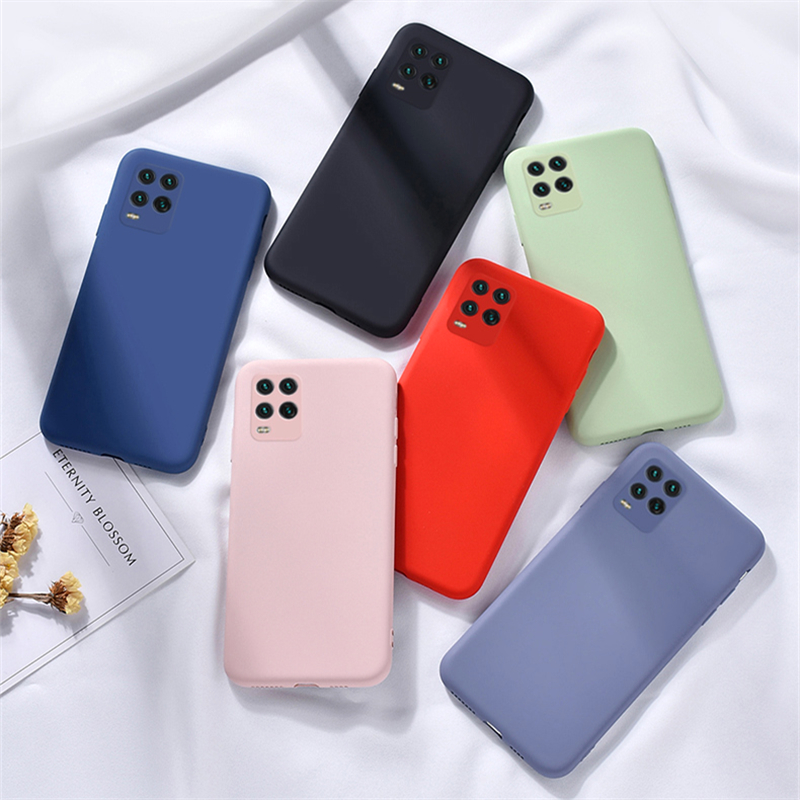 For Xiaomi Mi 10 Lite Case Liquid Rubber Silicone Anti-Slip Soft Case For Xiaomi Mi 10 Lite Case Cover For Mi 10 Pro Mi 10 Lite
