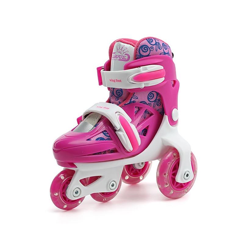Kids Children Lovely Stable Balance Slalom Parallel Flashing Ice Skate Roller UNBreak Shoes Adjustable Washable Fall Prevention