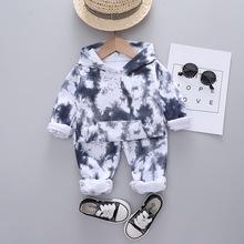 Zestawy ubrań dla niemowląt chłopcy spersonalizowane drukowanie dresy moda dziecięca dresy sportowe bluzy z kapturem + spodnie 2 szt Zestaw ubrań dla maluchów tanie tanio OOPSMILE COTTON spandex Damsko-męskie 7-12m 13-24m 25-36m 4-6y Na co dzień CN (pochodzenie) Wiosna i jesień Pulower BLG1038