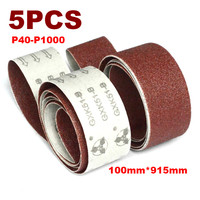 5 uds. Cinturones de lijado de 915x100mm P40-P1000  banda de lijado abrasiva de 4