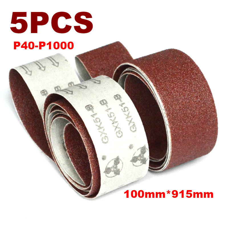 5Pcs 915*100mm Sanding Belts P40 - P1000 Abrasive Sanding Screen Band 4