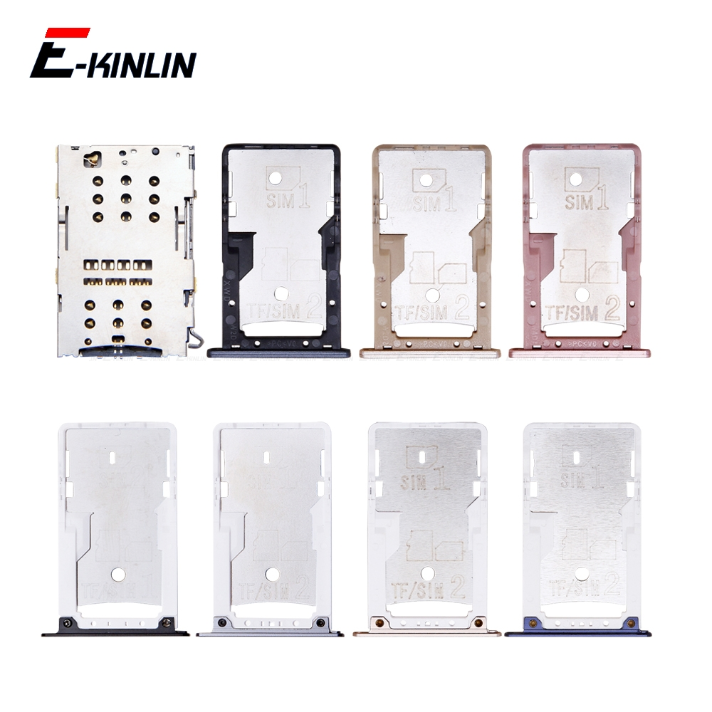 Sim Micro SD Card Socket Holder Slot Tray Reader For XiaoMi Redmi 4A 4 Pro Note 4 Adapter Container Connector Replacement Parts