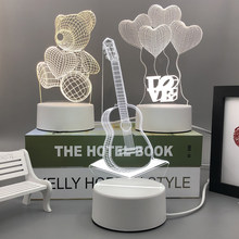 2021 New Acrylic LED 3D Night lamp The neon lights light Small table lamp Bedside lamp Birthday festival children decorate