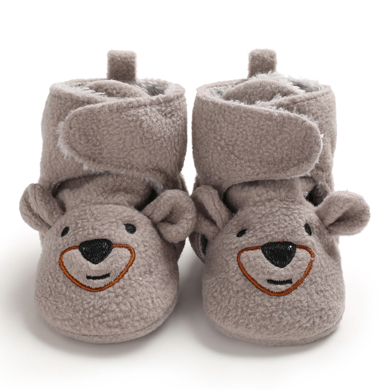 BABY WINTER BOOTS INFANT TODDLER NEWBORN CUTE CARTOON BEAR SHOES GIRLS BOYS FIRST WALKERS KEEP WARM SNOWFIELD  BOOT