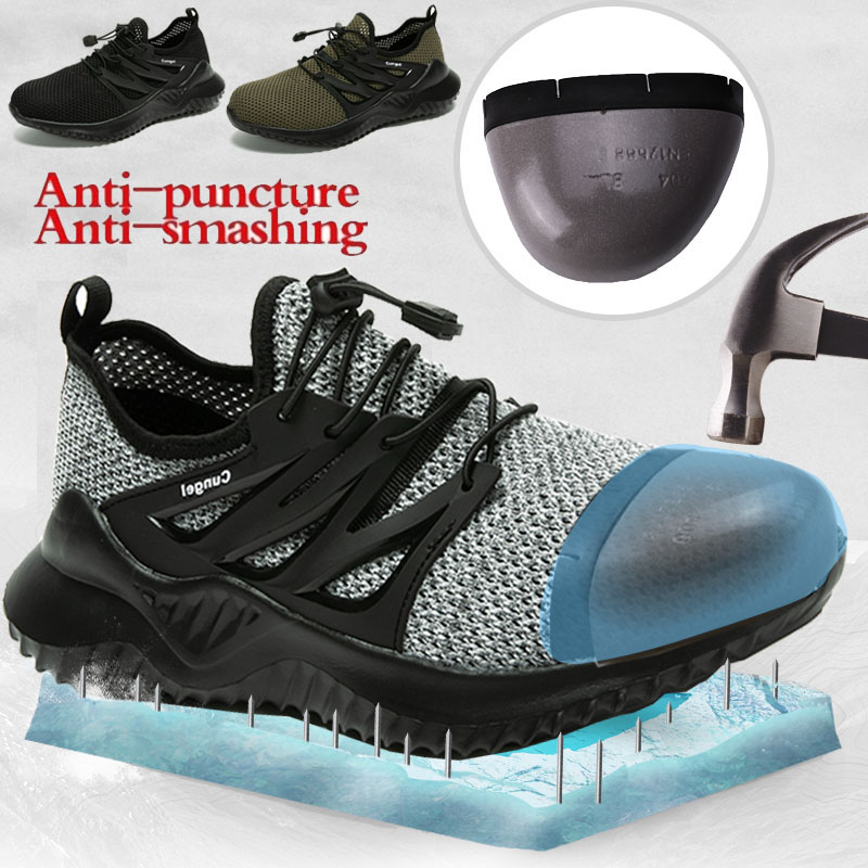Men Construction Professional Waterproof Protection Safety Steel Toe Combat Shoe