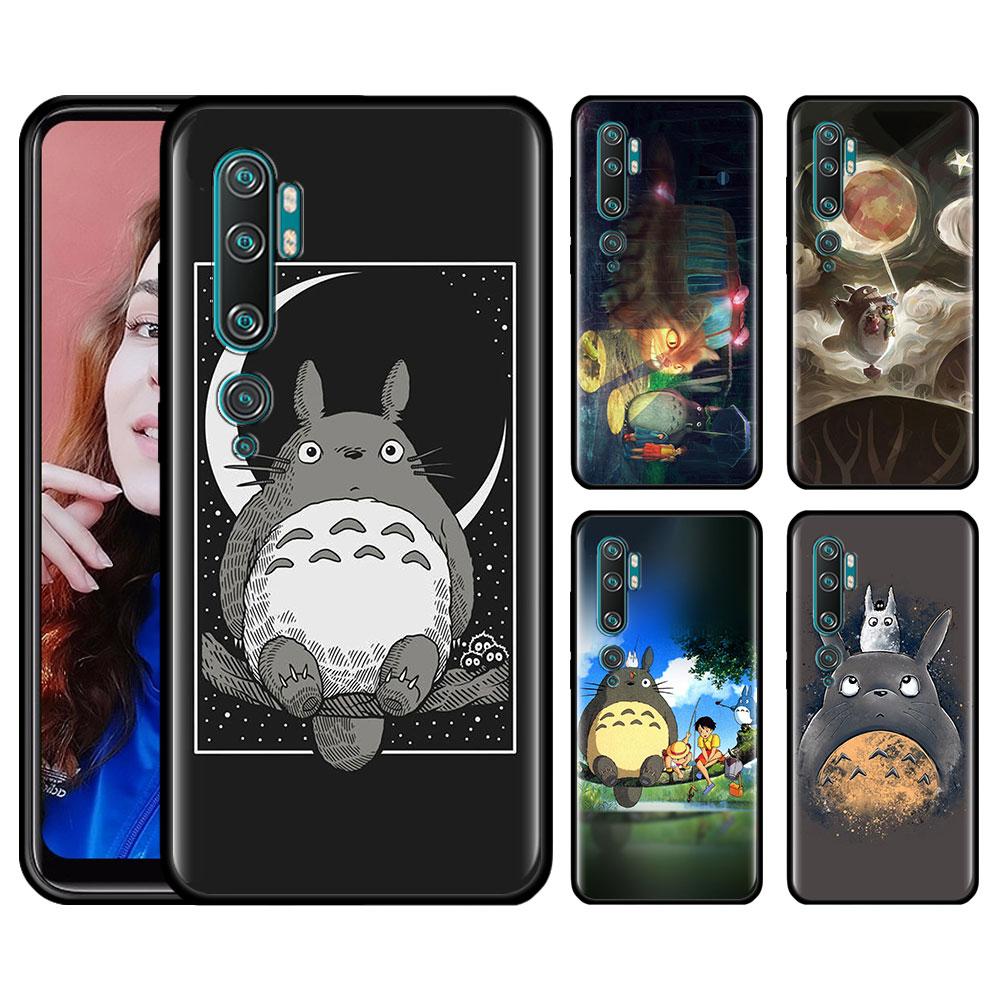 Silicone Case For Xiaomi Mi 10 9 Pro 5G 9 9SE 9T Note 10 Pro A1 9 A1 A2 8 Lite Poco F1 X2 Phone Cover Cute Totoro Ghibli Miyazak