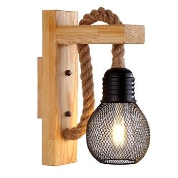 Lámpara De Pared decorativa Vintage para interiores y escaleras, luz Led antigua...
