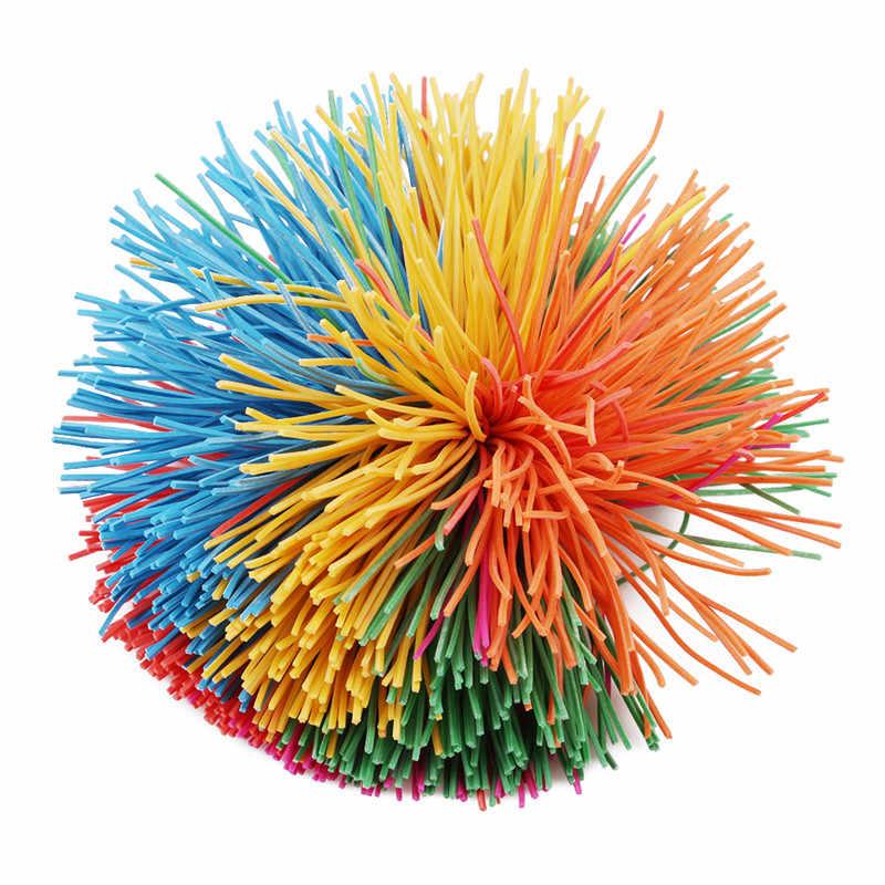 Baru Anti-Stress 6 Cm/9 Cm Rainbow Gelisah Sensorik Koosh Bola Bayi Lucu Elastis Bola Stres Relief anak-anak Autisme Kebutuhan Khusus