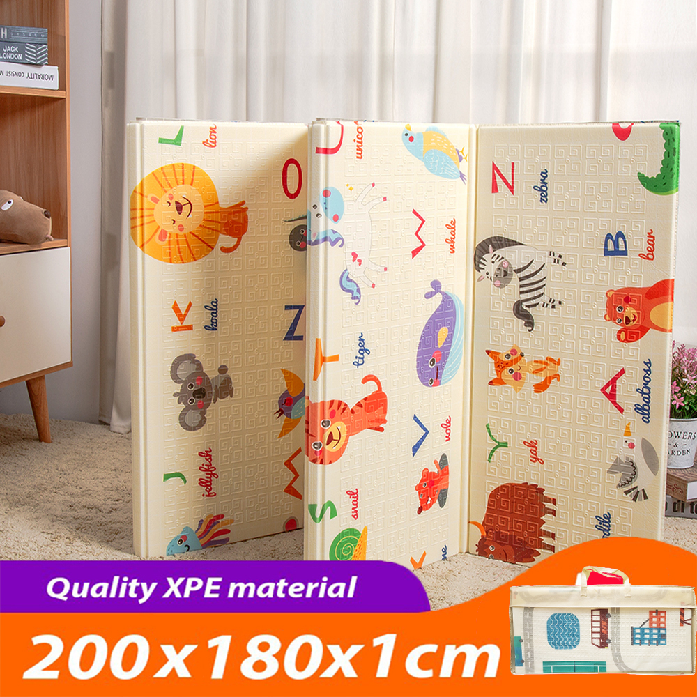 XPE Folding Baby Play Mat 1cm Thick Crawling Toys For Children's Carpet Climbing Gyme Game Road Pad Living Room Home Kids Rug