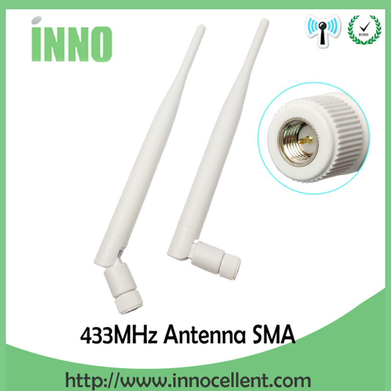 1pcs 433Mhz Antenna 5dbi GSM 433 MHz SMA Male Connector Antena 433m Rubber Aerial Wireless Repeater For Watermeter Antenne