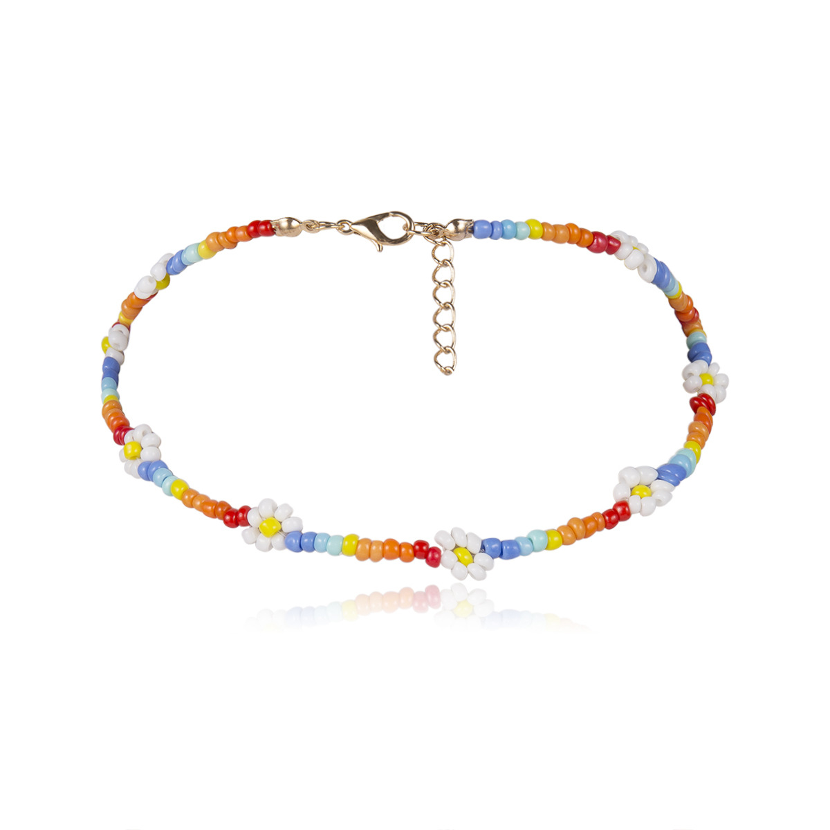 UOTOP 2019 New Bohemian Ethnic Style Handmade Beaded Necklace Female Vosc Girl Choker Flower Necklaces for Women Boho Jewelry in Choker Necklaces from Jewelry Accessories