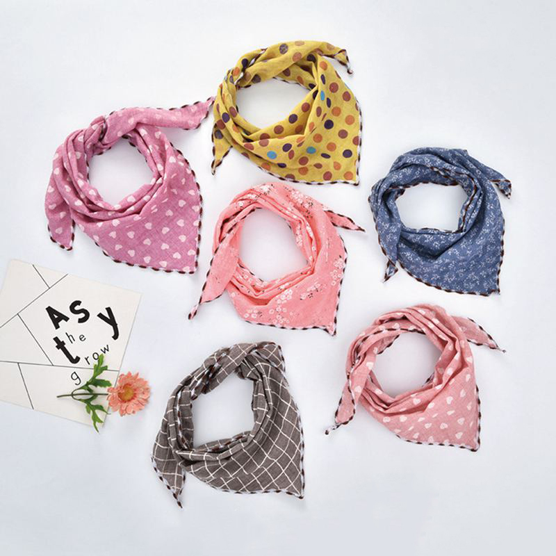 Dog Scarf   Pet Dog  Cat Tie Dog Accessories  Lead Knot Plaid Floral Cleaning Towel For Dog Cat Beauty