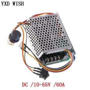 PWM Motor Speed Controller DC 10-55V 60A Speed Controller CW CCW Reversible Schalter Digital Display 12 V motor Speed Controller