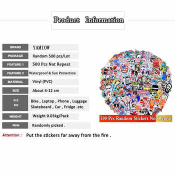 Random 500 PCS / Lot Mix Funny JDM Stickers For Car Laptop Kids Skateboard Motorcycle Furniture Decal DIY Toy Waterproof Sticker