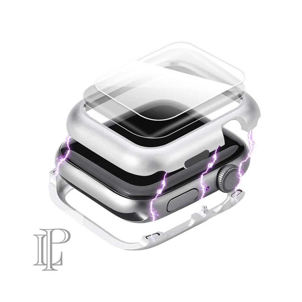Capa magnética para apple watch caso apple watch 4 5 44mm/40mm iwatch banda protetor de tela de vidro protetor de proteção