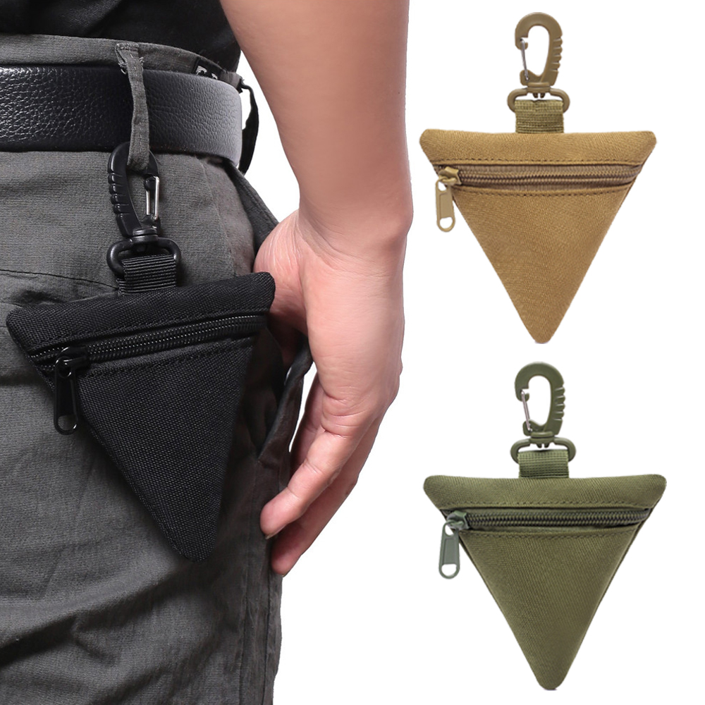 1000D Tactical Wallet Pouch Portable Key Coin Purse With Hook Earphone Holder Bag Mini Waist Bag Outdoor Hunting EDC Pack