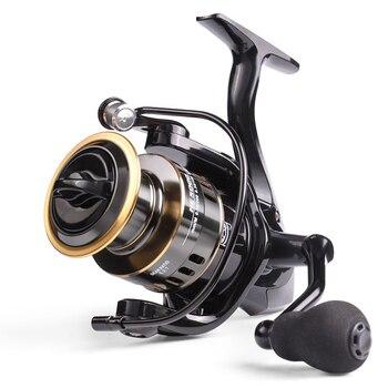 цена на 2020 New Fishing Reel HE1000-7000 Max Drag 10kg Reel Fishing 5.2:1 High Speed Metal Spool Spinning Reel Saltwater Reel