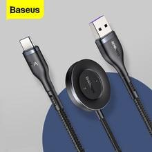 Baseus 2 In 1 kablosuz şarj için Huawei izle GT sihirli 1/2 rüya serisi 5A USB C tipi C hızlı şarj kablosu için Xiaomi 8 Samsung