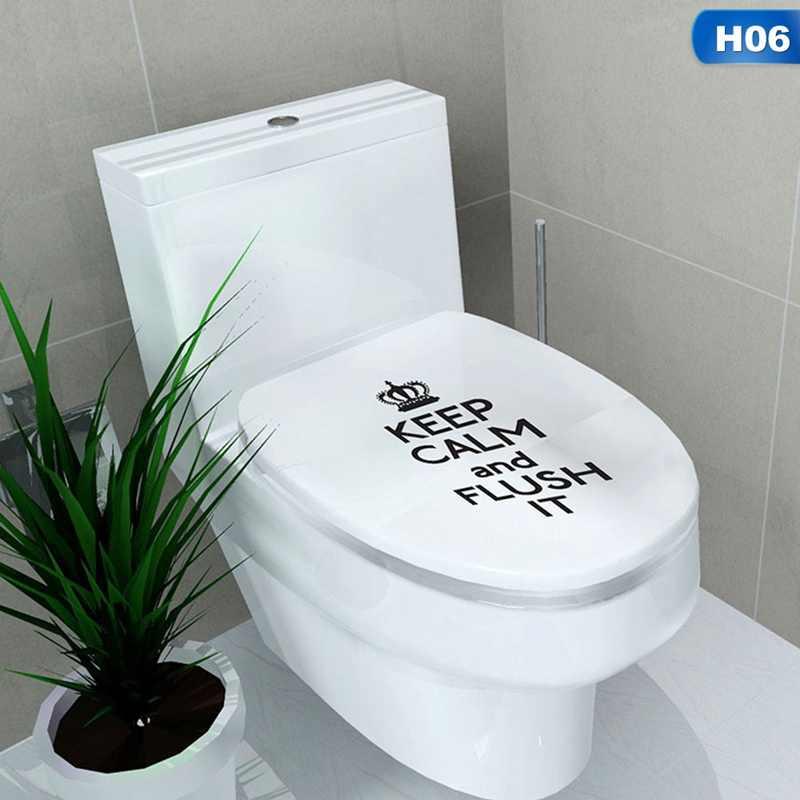 متعددة نمط الحمام ملصقات على المرحاض Muurstickers ديكور المنزل للماء اللوحة صائق الحائط Pegatinas دي باريد