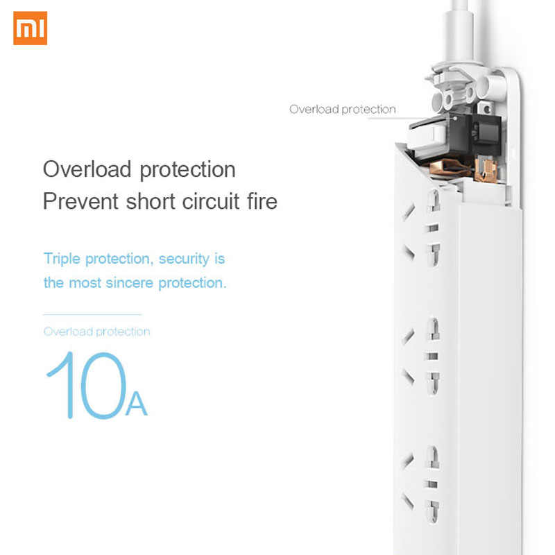 Xiaomi NORMA MIJIA Presa Intelligente WIFI Spina zigbee Wireless Remote Cavo di Scheda di Potenza 3/4/6 Foro USB di Ricarica Veloce 2500W 10A 250V DEGLI STATI UNITI UE