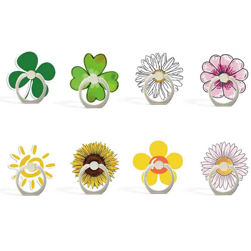 Four Leaf Clover Universal Mobile Phone Holder Phone Ring Holder Tables Cell Phone Stand Finger Ring Holder For IPhone