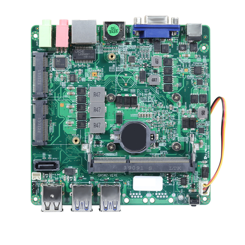 Настольная материнская плата ITX Вентилятор охлаждения Core i3 4010Y 1,30 ГГц процессор ITX Mini DDR3L 6 * usb mSATA SATA HDMI VGA материнская плата