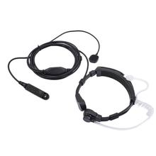 Throat Mic In-Oor Walkie Talkie Oortelefoon Intrekbare Draagbare Radio Waterdichte Auto-accessoires Handsfree Ptt Voor Baofeng A58 UV-9R(China)