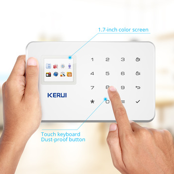 KERUI Wireless Smart Home GSM Security Alarm System SMS APP Control House Motion Detector Sensor Burglar Signal Device IP Camere 2