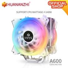 HUANANZHI A600 4 Copper Heat Pipe LED CPU Cooler Cooling Fan Radiator Quiet Dual Fan Cooler Heatsink