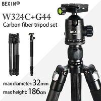 BEXIN Tripod camera professional carbon fiber travel lightweight tripod dslr monopod camera stand for camera with heavy ballhead