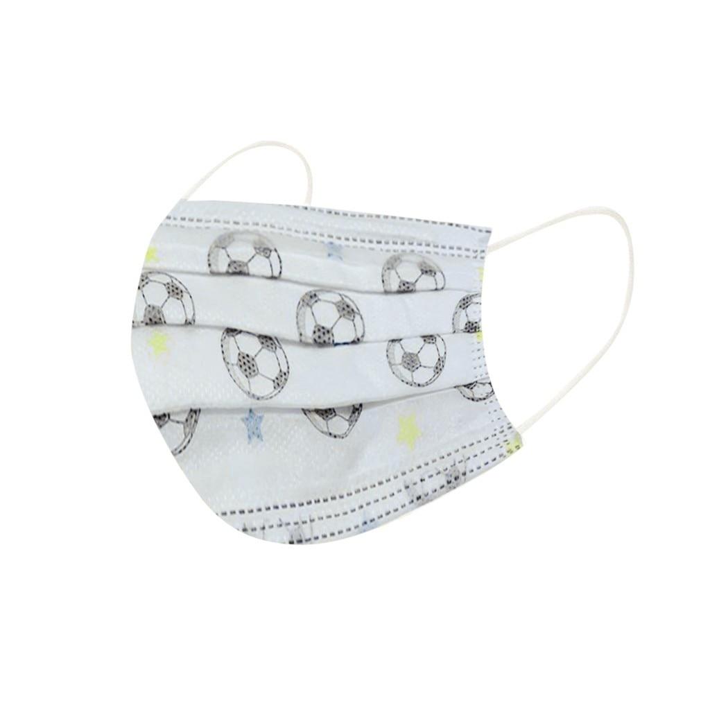 50 шт., одноразовые маски для лица, трехслойные нетканые пылезащитные маски с ушной петлей для защиты детей
