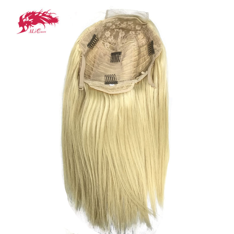 Blonde 613 Lace Wig 8-26Inches Brazilian Straight Bundles With Lace Closure / 13x4 Frontal Virgin Remy Human Hair Wigs