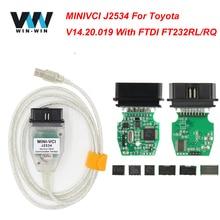 Последняя версия v12.20.024 мини VCI интерфейс для TOYOTA ТИС Techstream minivci FT232RL чип J2534 OBDII OBD2 инструменту диагностики