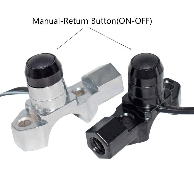 Manillar instalación 8mm pulsadores interruptor cromo