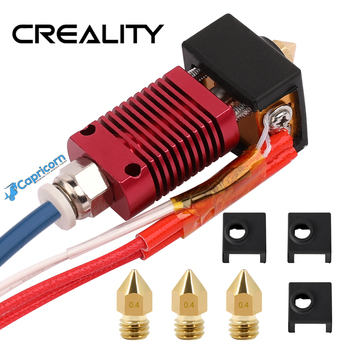 CREALITY 3D New V2 Version Super Extruder Kits Update With Capricorn Bowden PTFE Tubing Nozzles Block Silicone Cover Gift