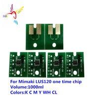 1000 ml lus120 uma vez chip para mimaki JFX200 2513 JFX200 2513 ex JFX200 2531 JFX500 2131 SIJ 320UV UJF 3042MkII único uso|Chip do cartucho|Computador e Escritório -