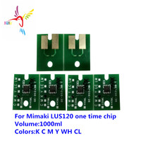 1000ML LUS120 One time chip For Mimaki JFX200 2513 JFX200 2513 EX JFX200 2531 JFX500 2131  SIJ 320UV UJF 3042MkII Single use|Cartridge Chip| |  -