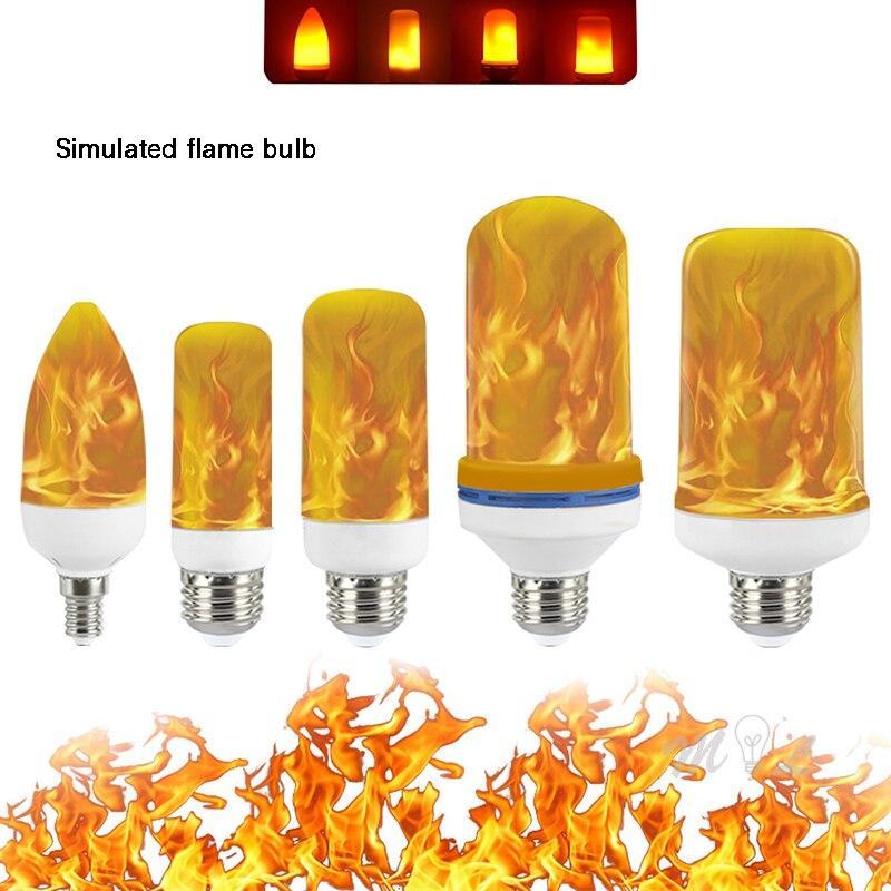 Led Simulated Flame Bulb 5W 9W 15W E14 E27 B22 85-265V Luces Home Electronic Accessories Flame Lamp Flame Effect Bulbs Lampada