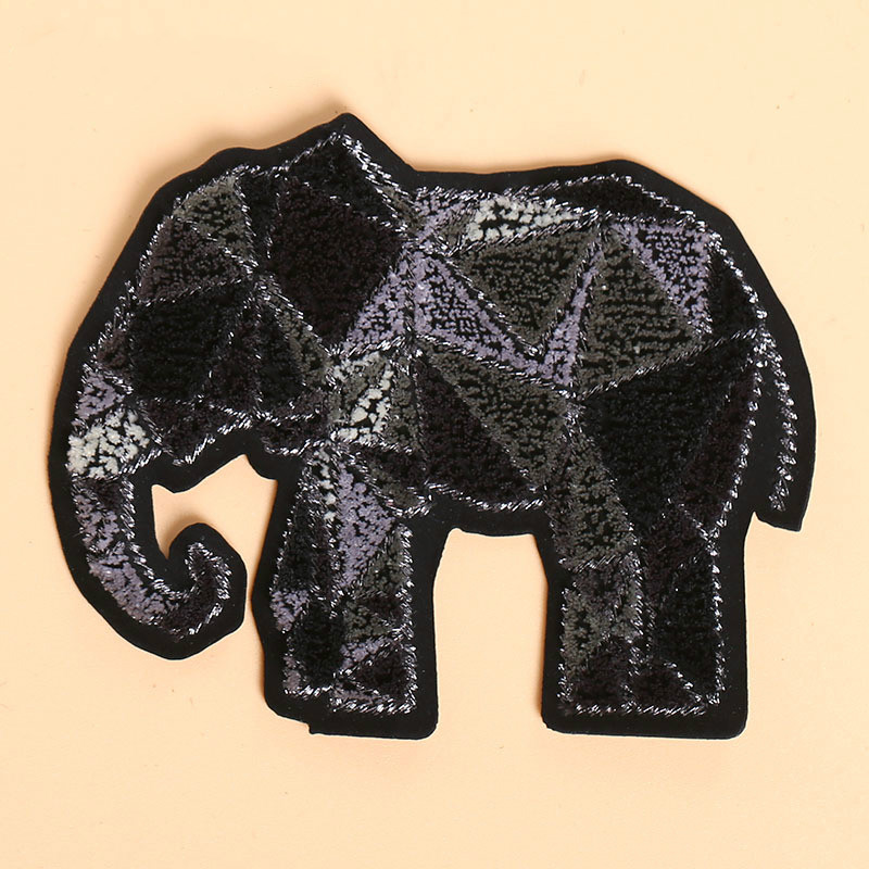 Embroidery Patch Toothbrush Embroidered Cloth Stickers Clothes Computer Embroidered Diy Decorative Badge Elephant Embroidery