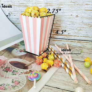 Image 2 - ideals DIY Baby Shower Pink Girl Decor Party Supplies Tabletop Gift Favor Bags,Candy Box, Paper Straws, Tassel Garland, Confetti